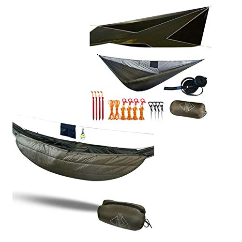 onewind Hammock Tent 12' Camping Tarp Fly Winter Underquilt Insulation 3/4 Size 13-30 Degree