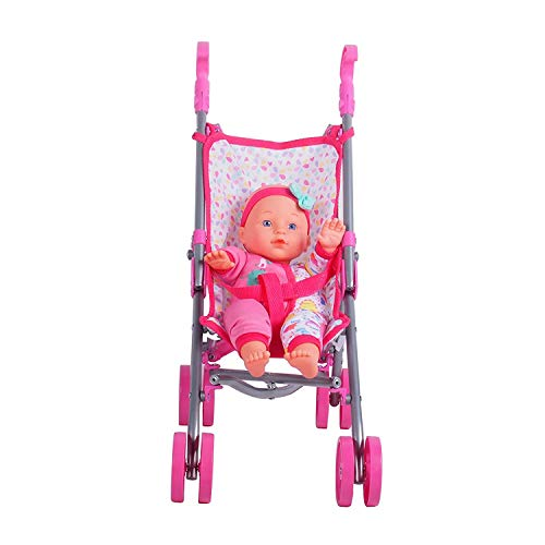 """DREAM COLLECTION 12"""" Baby Doll Care Gift Set with Stroller Delaware"""