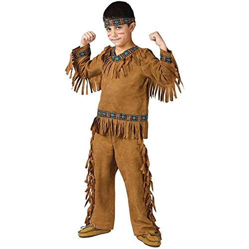 Fun World Native American Boy Costume, Large 12-14, Multicolor