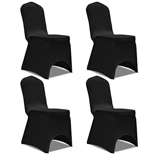 Funda elástica para sillón de 4 Piezas, Color Negro