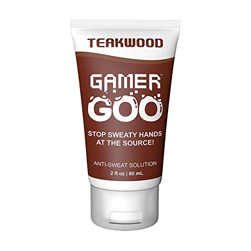 Gamer Goo Antiperspirant Dry Grip for Sweaty Hands – – Anti Sweat Hand Lotion – – FDA-Approved Ingredients, Non Sticky, Non-Toxic, TSA Travel Safe, Made in USA - 2 oz. (60mL) (Teakwood)