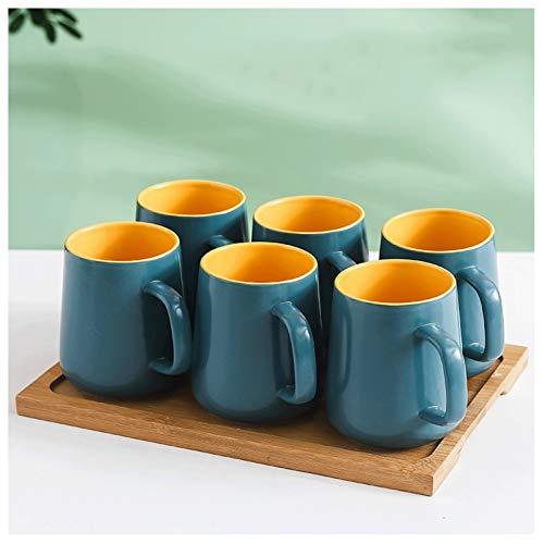 Tazas de Espresso Taza de gran capacidad Taza de contraste personalizada Taza de café Taza de té Taza de cerámica 500 ml, adecuado para leche, bebidas calientes y frías, café Taza de Café Espresso