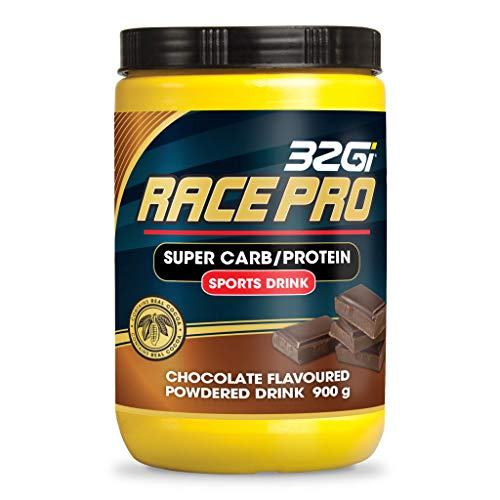 32Gi Race Pro Sports Energy Drink Powder | with Cyclic Dextrin | Maltodextrin | Pea Protein | Immediate and Sustained Energy | Ultimate Endurance Fuel | Chocolate Flavour | 900gram