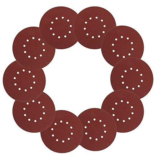 10 Stück 40 Grits 9 Zoll / 225 mm Schleifscheiben Schwingschleifer Pads Backing Schmirgelpapier Lot for Metall/Holz/Kunststoff/Farbe/fiberlgass XIAO DIAO