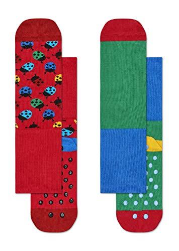 2-pak Ladybug anti-slip sokken 4000 6-12M
