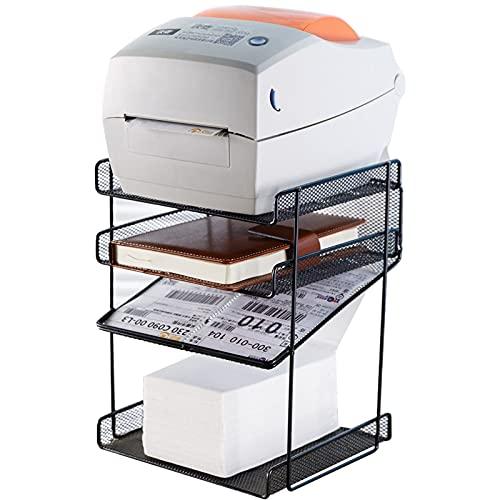 Soporte de Impresora Stand de soporte de impresora Soporte de impresora con 4 niveles de almacenamiento estanterías Estantería de estantería Hogar y organización de oficina para libros de papel y grap