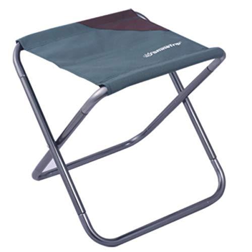 Azarxis 折りたたみ椅子 アウトドアチェア キャンプ椅子 コンパクト 超軽量 超頑丈 耐荷重110�s 航空アルミ材質 お釣り ピクニック 野外フェイス 収納袋付き (グリーン)