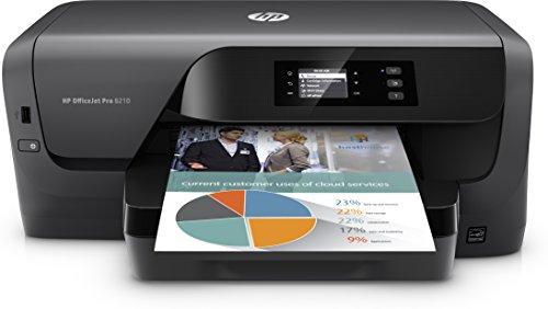 HP OfficeJet Pro 8210 Tintenstrahldrucker (HP Instant Ink, Drucker, LAN, WLAN, Duplex, Airprint,mit 1 Probemonat HP Instant Ink inklusive) schwarz