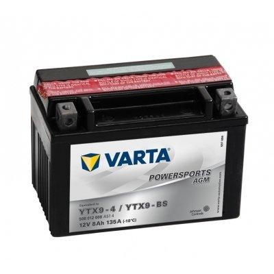 Batería de moto Varta Powersports AGM 50812 - YTX9-BS