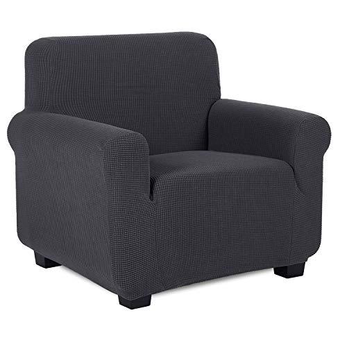TIANSHU Sesselbezüge,Spandex Sofabezug Stretch Couchbezug Elastischer Antirutsch Stretchhusse Weich Stoff,Jacquard-Stretch-Sofabezug, sesselbezug Schonbezug für Sofa-Sofahalter (Sesselbezüge,Grau)