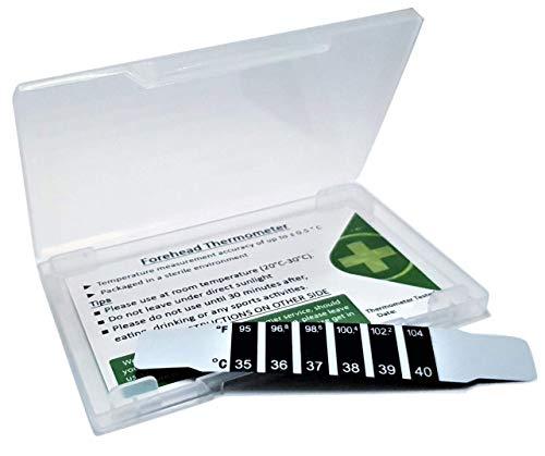 Indicador de temperatura del termómetro de frente tira de frente con funda protectora, el termómetro de temperatura más fácil de usar - Reino Unido - CGC