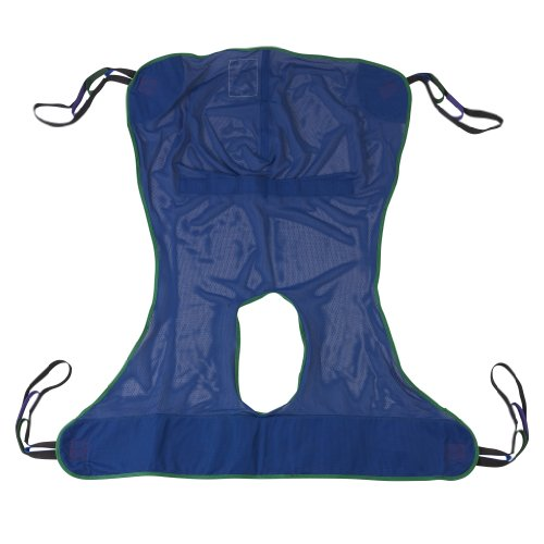 Drive Medical Full Body Patient Lift Sling, Mesh with Commode Cutout, Large