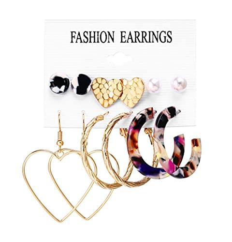 Conjunto De Pendientes Para Mujer, Pendientes De Perlas Acrílicas Para Mujer, Pendientes Bohemios Con Borla De Leopardo, 2021, Nueva Joyería De Moda