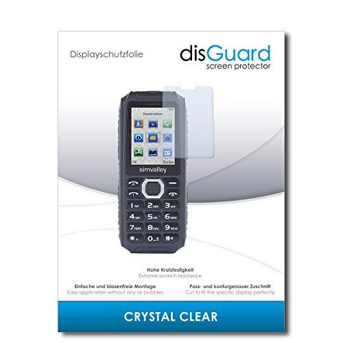 disGuard® Bildschirmschutzfolie [Crystal Clear] kompatibel mit Simvalley Mobile XT-690 [4 Stück] Kristallklar, Transparent, Unsichtbar, Extrem Kratzfest, Anti-Fingerabdruck - Schutzfolie