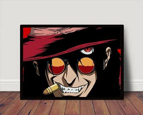 Quadro/Poster C Moldura Anime Hellsing Alucard P4329