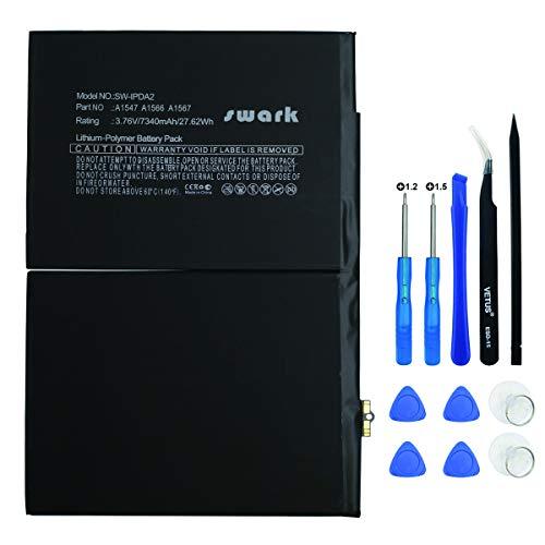 Swark - Batteria A1547 compatibile con Apple iPad Air 2 A1566, iPad Air 2 A1567, iPad 6 (6th Generation) MGKL2LL/A MGL12LL/A con strumenti
