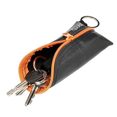 Upcycling 'Schlürfli' Schlüsseltasche aus abgefahrenem Fahrradschlauch - Schlüssel Organizer - Etui für Autoschlüssel