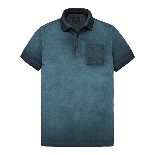 PME Legend Short Sleeve Polo Light Pique Cold Dye, Größe_Bekleidung:XL, Farbe:Salute