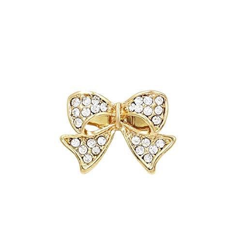 PCBDFQ Broche Mini Crystal Bow Broches voor Mode Broche Pins Bruiloft Bruidsboeket Corsage Party Accessoires