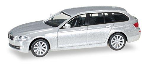 herpa 034401-005 BMW 5er Touring Fahrzeug, glaciersilber metallic/glaciersilver metallic