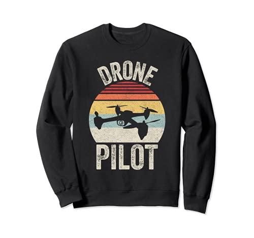Vintage Retro Drone Pilota Quadcopter RC Regalo Felpa
