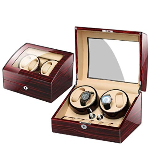 CDPC Cajas de reloj para hombre automático de reloj mecánico mecánico caja de reloj enrollador automático caja de reloj Winder Awameling mesa caja de almacenamiento mesa giratoria fina / 4+6B