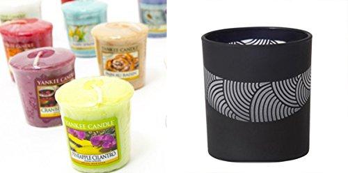 /Ivoire Shearer Candles Bougie parfum/ée AE Fond Kiss Taille Tartan Bougie Bo/îte m/étal/