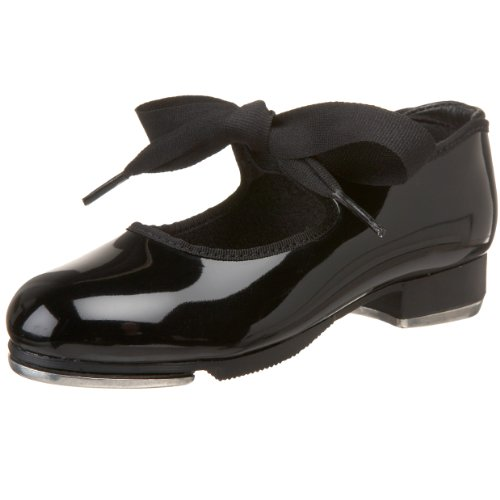 Capezio girls Jr. Tyette Tap Shoe, Black Patent, 12 M US Little Kid
