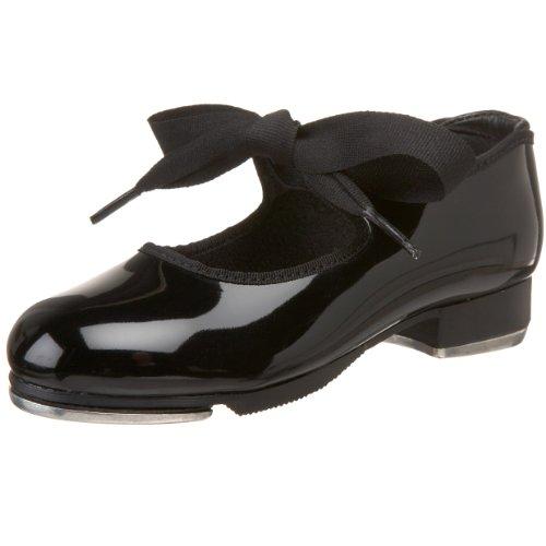 Capezio girls Jr. Tyette Tap Shoe, Black Patent, 3 M US Little Kid