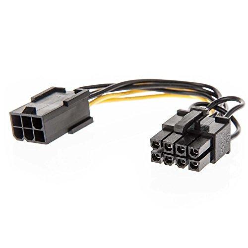 LINDY 0.15 m 6 Pin Vrouwelijke naar 8 Pin Mannelijke PCIe Adapterkabel