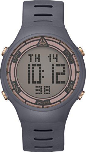 Reebok Reloj Digital para Hombre de Cuarzo con Correa en PU RD-RUT-G9-PAPA-S3