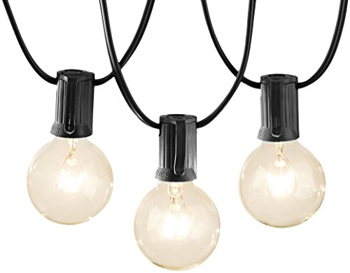 AmazonBasics Patio String Light, 50 Feet, Black