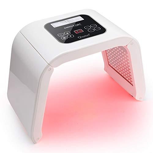 Filfeel Máquina LED para el cuidado de la piel,7 colores luz lámpara de belleza acné tratamiento de eliminación de arrugas en la piel cara cuidado corporal, aprobado por la FDA Mujer(US)