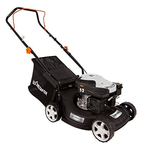 DELTAFOX Benzin Rasenmäher - 4-Takt Motor RATO RV125-127,1 cm³ Hubraum - 400 mm Schnittbreite - 40l Grasfangsack - 0,8 l Benzintank