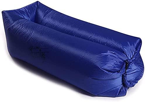 Aufblasbare Sofas Aufblasbare Faule Luftliege, schnelles Aufblasen von austretendem Wasserfest (Color : Dark Blue)
