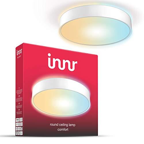 Innr Smart LED Round Ceiling Light Comfort, lámpara de techo, compatible con Philips Hue* y Alexa (requiere puente), 40 cm, 2200K - 5000K, Luz Blanca ajustable, RCL 240 T