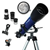 Meade Instruments – S102mm Aperture, Portable Beginner Refracting Astronomy Telescope for Kids &...