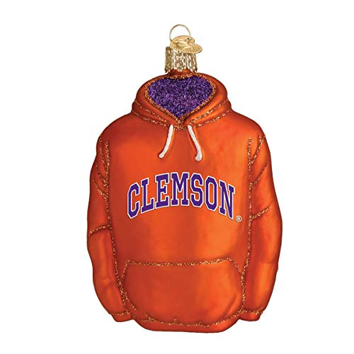 Old World Christmas Clemenson University Tigers Glass Blown Ornaments for Christmas Tree Hoodie