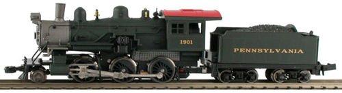 MDP N Scale Pennsylvania 2-6-0 Mogul Model Train Steam Locomotive - Model Power 87608