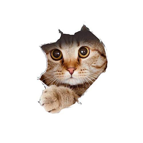 Wandaufkleber für Schlafzimmer Mädchen |Pet Wandaufkleber Niedlicher 3D-Katzenhund Wasserdichte selbstklebende Wandaufkleber DIY Abnehmbare Toilettenaufkleber Wohnzimmer Badezimmer Dekor-AS SHOW-