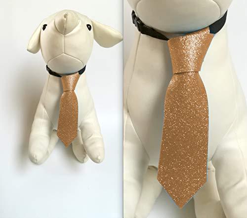 CRAZY FAMILY SHOP Krawatte Glitter Farbe Orange für Hund und Katze Größe L 18 x cm 5 mit elastischem Halsband verstellbar von 29 bis 50 cm