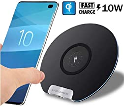 UNVT.MCDWbb White 10W Qi Wireless Charger Fast Charging Pad for Huawei P30/Mate20 Pro Samsung S10