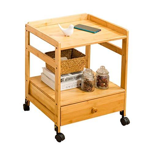 Haushaltsprodukte Bambus Nachttisch Beistelltisch Beistelltisch Nachttisch Es kann Sofa Beistelltisch Nachttisch Kleiner Tisch mit Rädern Mini Massivholz Schlafzimmer Nachttisch Beistelltisch beweg