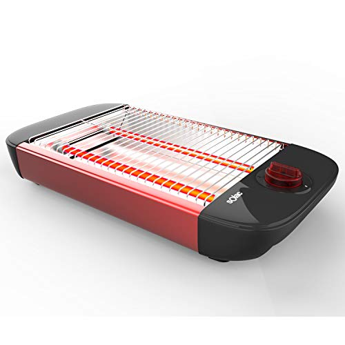 Solac TC5303 Stillo Red Flacher Toaster, Kunststoff, rot