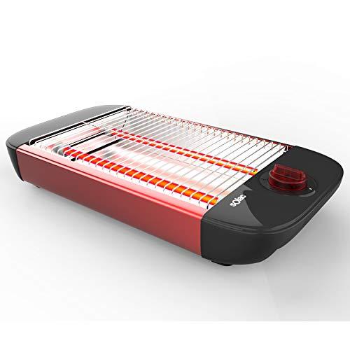 Solac Stillo Red Tostador plano, 600 W, Plástico, Rojo