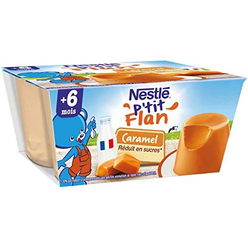 Nestlé Bébé P'tit Flan Caramel - Laitage dès 6 mois - 4 x 100g - Pack de 6 ( 24 Laitages )