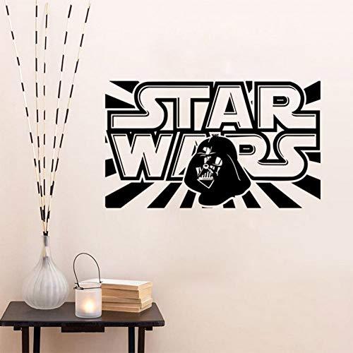 VIOYO Mots de caractère Star War Amovibles Sticker Mural décoration Chambre d'enfants garçons créatifs Aiment Jouets 2 conceptions
