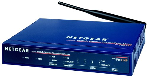 NETGEAR FM114P GR ProSAFE-Wireless-Firewall-Router mit Printserver