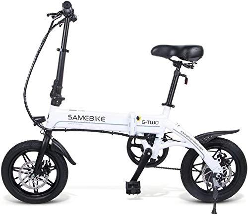 RDJM Bici electrica, Bicicleta eléctrica Plegable Bicicleta eléctrica for Adultos con 250W 36V 7.5AH de Iones de Litio de Ciclo al Aire Libre Trabajar el Cuerpo Viaje