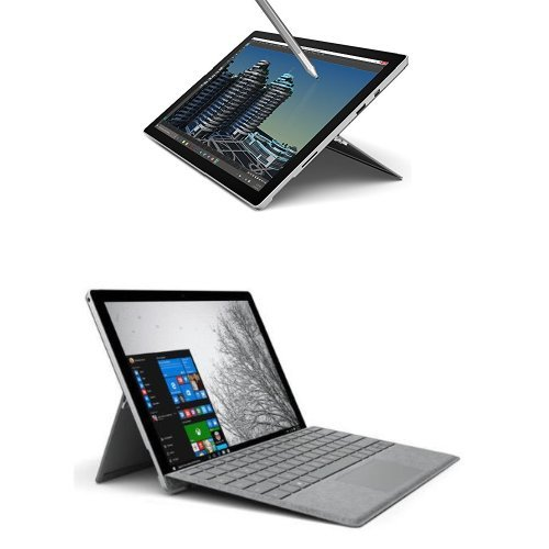 Microsoft Surface Pro 4 Tablet, Processore i5, SSD da 256GB, RAM 8GB + Microsoft Signature Cover con Tasti per Surface Pro 4, Alcantara